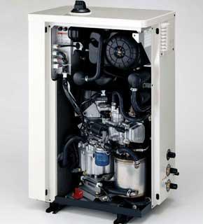 Новейший домашний «когенератор» Honda с двигателем, работающим по циклу Аткинсона на природном или сжатом газе, вырабатывает не только горячую воду-теплоноситель (как обычный газовый котел), а и электроэнергию, которая в Германии обходится пользователям по 5 евроцентов, а не по 24 евроцента, как в общих сетях.