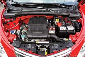 Базовый 69-сильный двигатель годится лишь для неспешной городской езды. Натрассе его мощности мало.