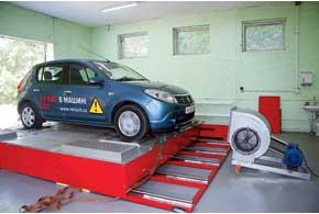 Renault Sandero. Стендовый эксперимент