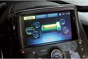 На центральной консоли расположен ЖК-дисплей, информирующий водителя об энергопотоках...