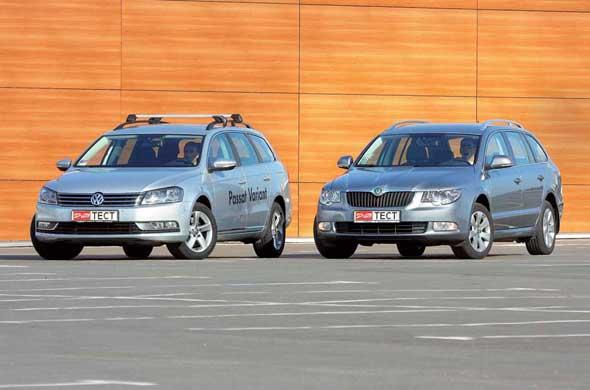 Skoda Superb Combi, VW Passat Variant