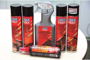 Компания Liqui Moly выпускает комплект средств для ухода за салоном.