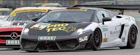Нанотехнологии от PRO TEC обкатываются на Lamborghini командой серии GT3 Masters, спонсируемой концерном PRO TEC-Bluechem Group.