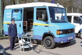 Первая диагностическая лаборатория появилась в распоряжении ГАИ еще 6 лет назад. Нынешние мобильные пункты проверки созданы на базе современных микроавтобусов.