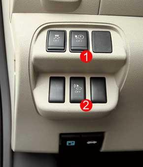 Из необычных для авто кнопок – включение таймера зарядки и внешнего генератора