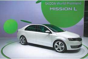 Skoda MissionL – прообраз будущей компактной модели, которая займет место между Fabia и Octavia.