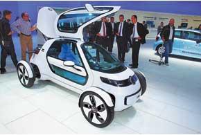 Volkswagen Nils – одноместное купе, символизирующее новую концепцию городских мини-каров.
