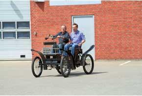 Социальный проект: вJPGroup по старым чертежам для музея и выставок восстановили первый автомобиль датского производства Brems (1900г.).