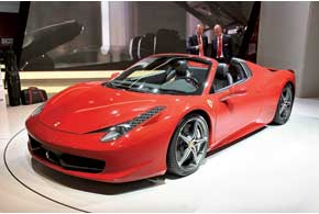 Ferrari 458 Spider. Серийный спорткар.