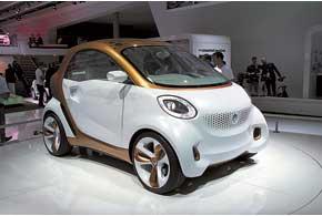 Электромобиль Smart ForVision создан при содействии химического концерна BASF.