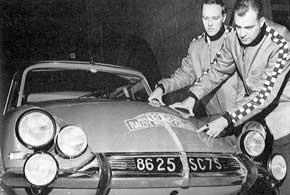 Ралли Монте-Карло, 1966-й год. Hakkapeliitta готовится к старту.