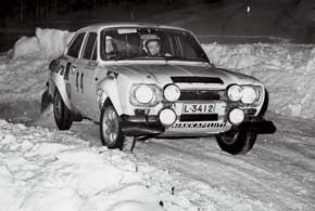 1975-й год. Hakkapeliitta принимает участие варктическом ралли по Лапландии Tunturiralli.