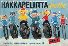 Реклама 1960-х. Уже тогда в линейке Hakkapeliitta была целая гамма моделей.