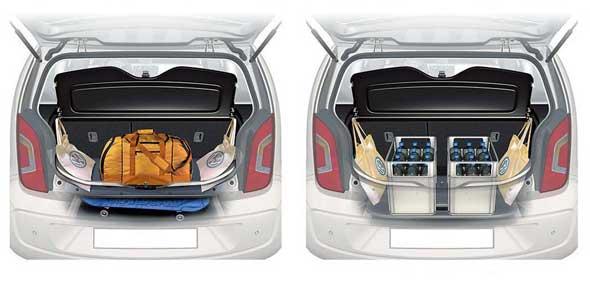 Полезное пространство для груза можно увеличить за счет изменения положения пола багажника.
