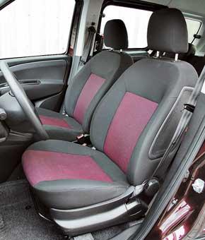 Передние сиденья Fiat нерадуют боковой поддержкой. Кроме того, унего отсутствует регулировка высоты кресла.