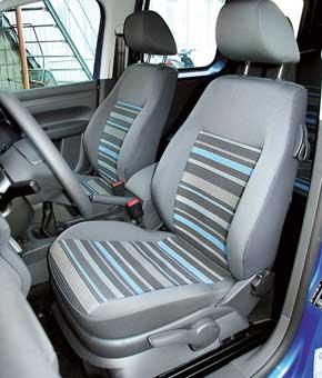 Если нужно положить, например,  сумку, спинку водительского сиденья Сaddy  можно откинуть. Регулировка высоты кресла – опция.