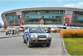 Экипаж «АЦ» проехал по дороге Киев – Донецк, посетил «Донбасс Арену» и убедился в готовности города принять финальные матчи Евро-2012.