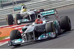 Стартовав позади первой десятки и напарника Нико Росберга, Шумахер к концу гонки опередил его, финишировав пятым.
