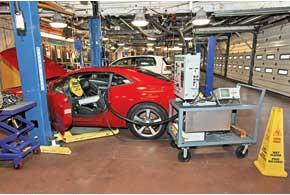 Этот Camaro «идет на рекорд» – его «гоняют» с Mobil1, втрое превышая рекомендованный производителем интервал замены.