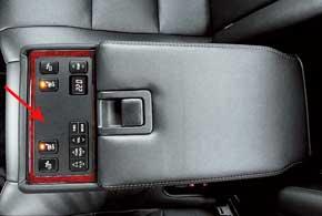 Задний подлокотник с панелью управления доступен, начиная со средней поуровню комплектации Prestige.