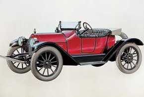 Chevrolet Royal Mail Roadster. В конце 1913 года компания Chevrolet представила 4-цилиндровую модель Royal Mail Roadster, которая первой получила фирменную эмблему в виде галстука-бабочки.