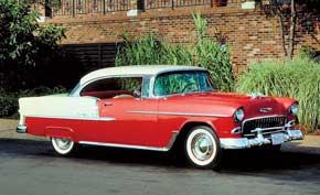 Chevrolet Bel Air Sport Coupe. Именно модель Bel Air стала 50-миллионным автомобилем, изготовленным корпорацией GM. На новинку установили мотор V8, который с незначительными изменениями выпускается до сих пор.