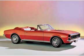 Chevrolet Camaro. Первое поколение этой модели пользовалось большим успехом не только благодаря стильной внешности, но и многочисленным победам в гонках. Camaro и сегодня вдохновляет дизайнеров GM, послужив прототипом для создания нынешнего, пятого поколения модели.