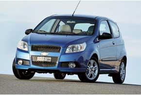 Chevrolet Aveo. После покупки корпорацией GM обанкротившейся корейской Daewoo все автомобили этой марки начали продаваться подмаркой Chevrolet.