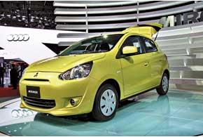 Mirage, новая глобальная модель Mitsubishi, в Европе заменит Colt.