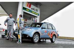 Subaru Forester с экипажем в составе Андрея Сидоренко и Геннадия Мазепы