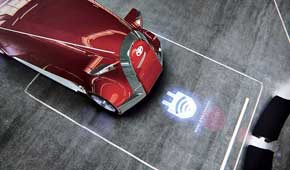 Зарядка батареи происходит на парковке благодаря беспроводной индукционной технологии.