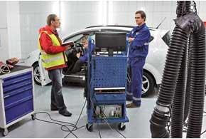 Тест дизеля «на дымность» показал, что мотор не имеет проблем.