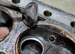 Подгоревшие клапаны – результат неправильной регулировки ГБО.