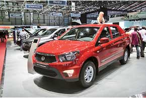 SsangYong Actyon Sports нового поколения получил 2,0-литровый 155-сильный турбодизель, максимальный момент которого достигает 360 Нм.