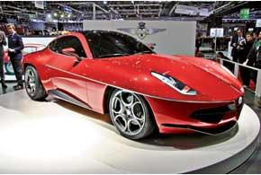 Ателье Touring Superleggera представило концепт AlfaRomeo Disco Volante 2012, созданный по мотивам купе Disco Volante 1952 года.