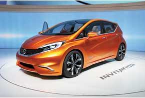 Nissan Invitation Concept построен на базе Micra иявляется прообразом модели Note нового поколения.