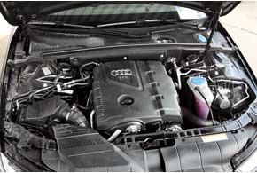Новый двигатель TFSI 1,8 л мощностью 170 л. с. по конструкции больше похож надвигатель TFSI 2,0 л мощностью 211л. с., чем на старый, который ставился на первую «четверку».