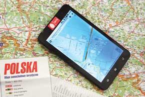По туристическим маршрутам Вроцлава можно передвигаться под управлением навигации, встроенной в планшет МТС 1055.