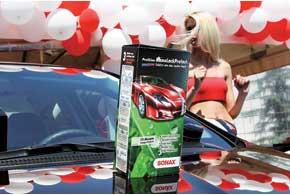 На протяжении целого года препарат «НаноЛак» немецкой компании Sonax может защищать лакокрасочное покрытие кузова от мелких повреждений.
