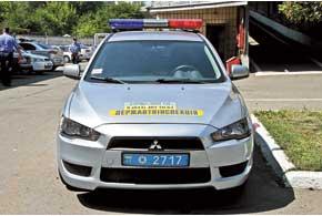 Патрульные автомобили работников ДПС