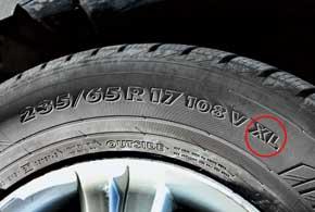 Маркировка XL (от extra load – повышенная нагрузка) означает, что шина разработана с запасом прочности, на четыре единицы превышающим разрешенный индекс грузоподъемности (load index).