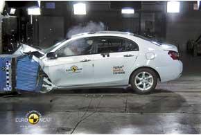 Geely Emgrand EC7 первым из китайских автомобилей завоевал 4звезды вкраш-тестах EuroNCAP.