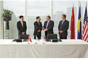 В августе 2010 года ЛиШуфу и финансовый директор Ford подписали соглашение о покупке Volvo компанией Geely.