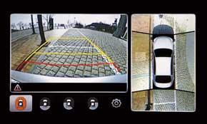 На парковке водителю нового седана Kia Quoris поможет система кругового обзора на 360 градусов, обеспечиваемая 4-мя камерами системы Around View Monitor (AVM).