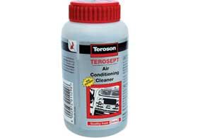 Работники СТО для антисептической обработки кондиционеров применяют профессиональные антисептики типа Teroson Terosept.