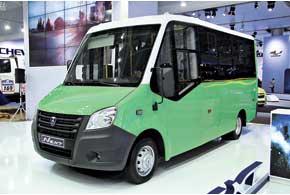 Концептуальный 19-местный микроавтобус «ГАЗель NEXT»– один изпрообразов нового поколения популярного семейства «ГАЗелей».