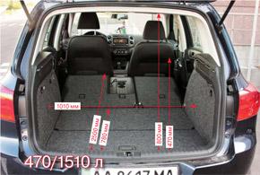 Багажник очень вместителен. АвSport&Style спинка переднего кресла еще и откидывается вперед.