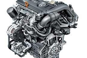 122-сильный двигатель 1,4TSI свой максимум тяги в 200Нм выдает уже с1500об/мин, носпадать момент начинает раньше, чем на двухлитровом двигателе,– с4000об/мин.
