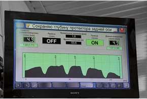 На линии инструментального контроля нам даже проверили остаточную глубину рисунка протектора, используя лазерную технологию.