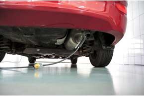 Один из косвенных показателей исправности двигателя – токсичность отработавших газов. На этом посту диагностика также показала, что все параметры в норме.